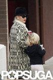 Gwen Stefani took Zuma Rossdale to Starbucks.