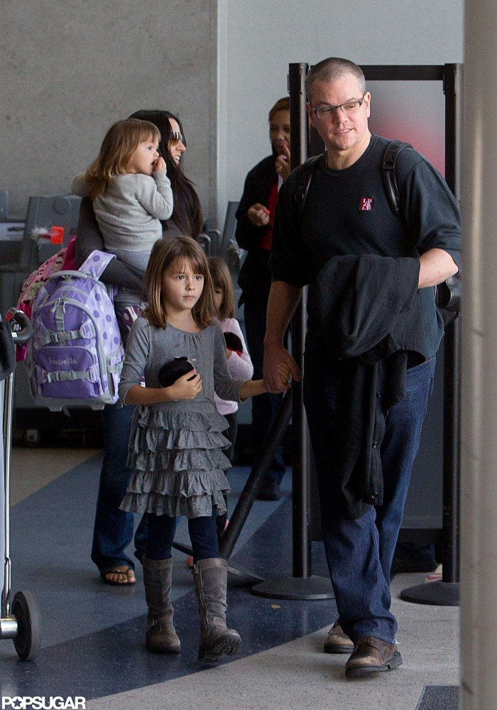 Matt Damon stepped out in LA with his family.
