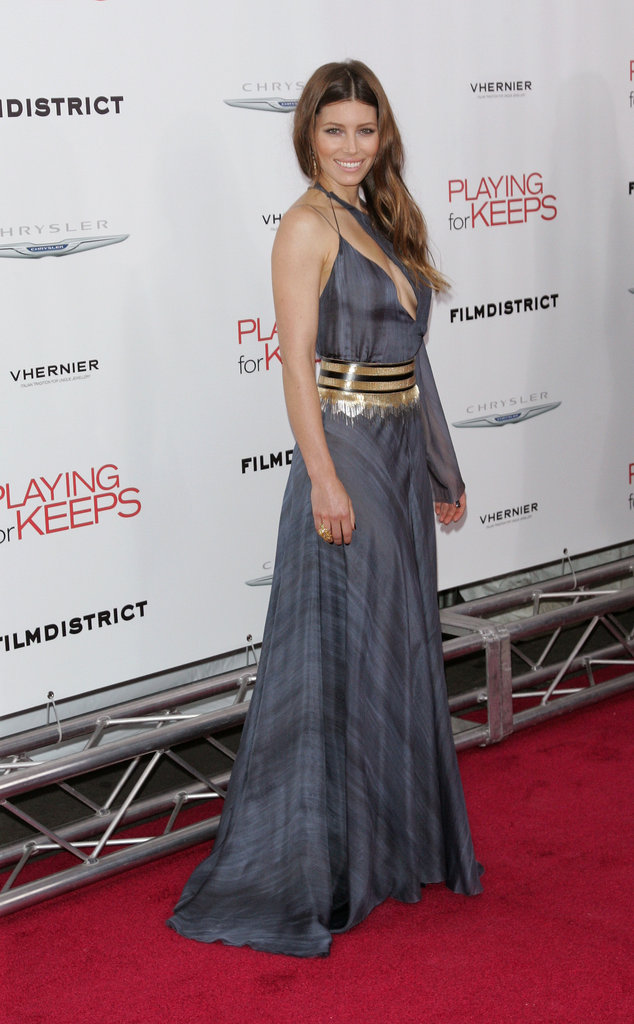 Jessica Biel posed on the red carpet at the Playing For Keeps premiere in NYC.