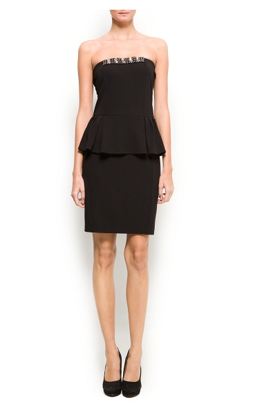 The ultimate LBD, this Mango dress ($80) has both peplum and embellishments for under $99!