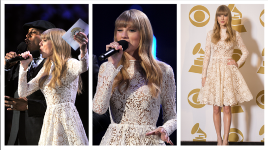 Taylor Swift Wears Winter White — and Snags 3 Grammy Nods!