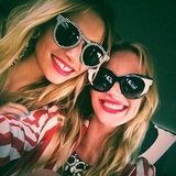 Jessica Hart and Anne V. wore cute cat-eye shades. Source: Twitter user AnneV