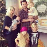 Tori Spelling shared the family's first holiday photo with baby Finn. Source: Instagram user torianddean