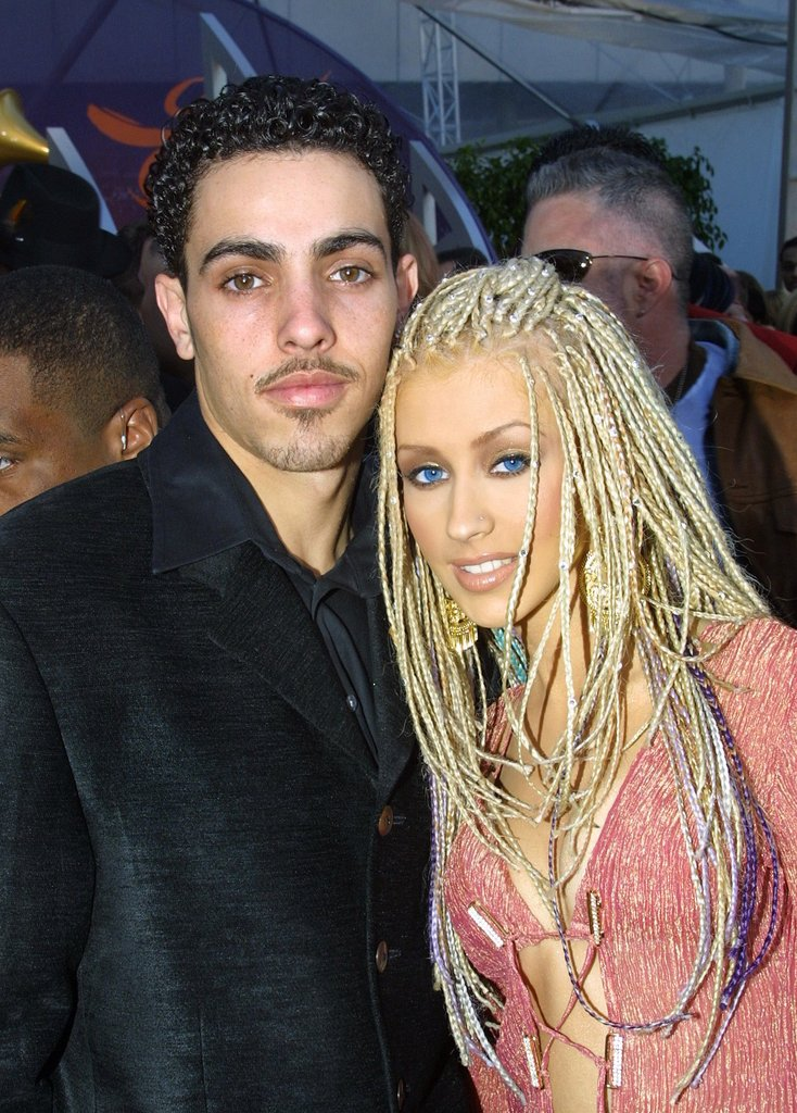 Christina Aguilera and Jorge Santos, 2001