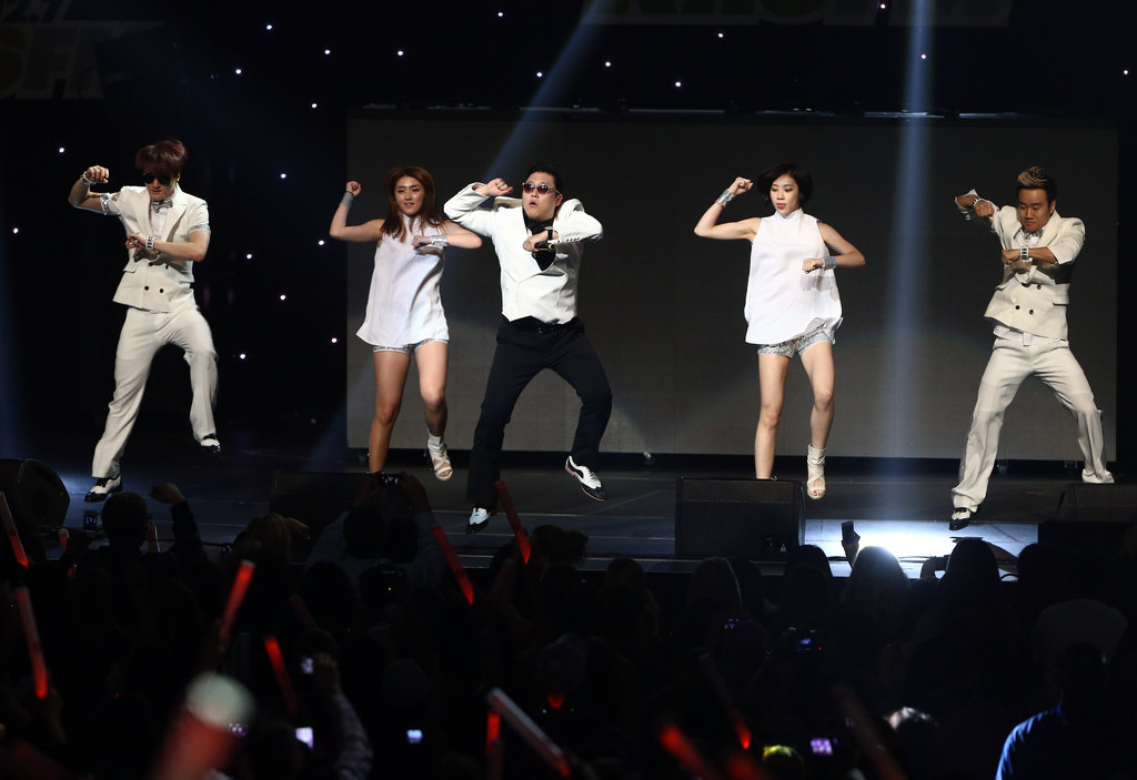 Korean pop artist Psy performed his worldwide smash, Gangnam Style, at the KIIS FM 2012 Jingle Ball on December 3.
