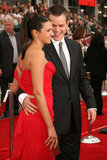 Matt Damon couldn't keep his eyes off Luciana at the LA premiere of Ocean's Thirteen in June 2007.
