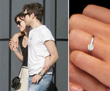 Keira Knightley debuted her band from James Righton in May. She wears a platinum band featuring an almost two-carat solitaire diamond.