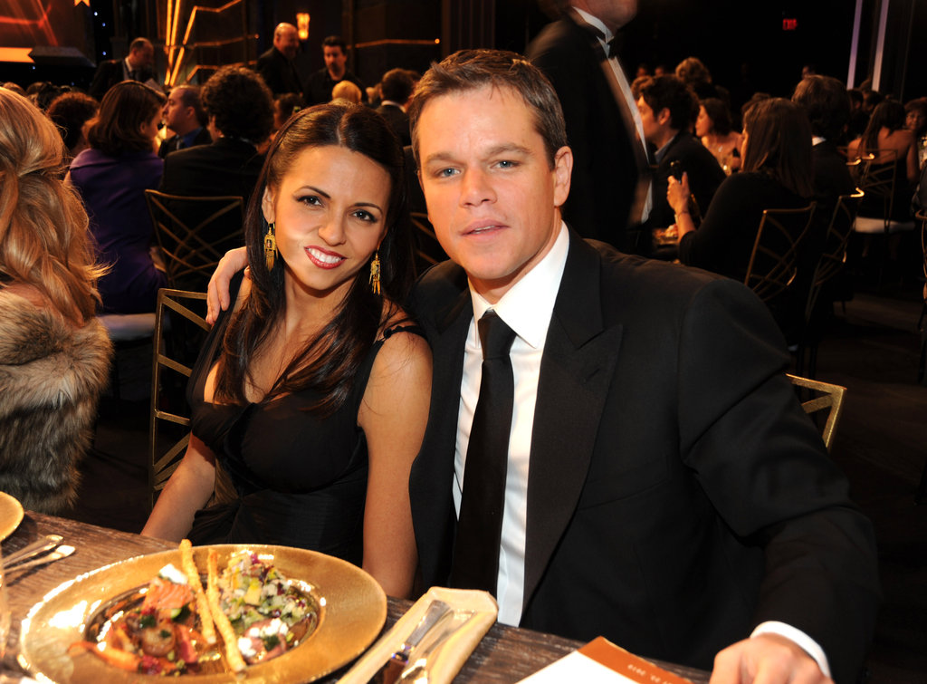 Matt and Luciana Damon posed at the January 2010 SAG Awards in LA.