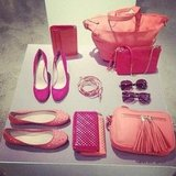 50 shades of pink! We're lusting after this colourful collection in the Witchery A/W accessories range.