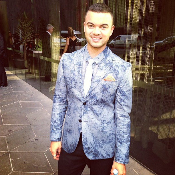Guy Sebastian suited up for a Myer event. Lovin' the blue suit! Source: Instagram user guysebastian