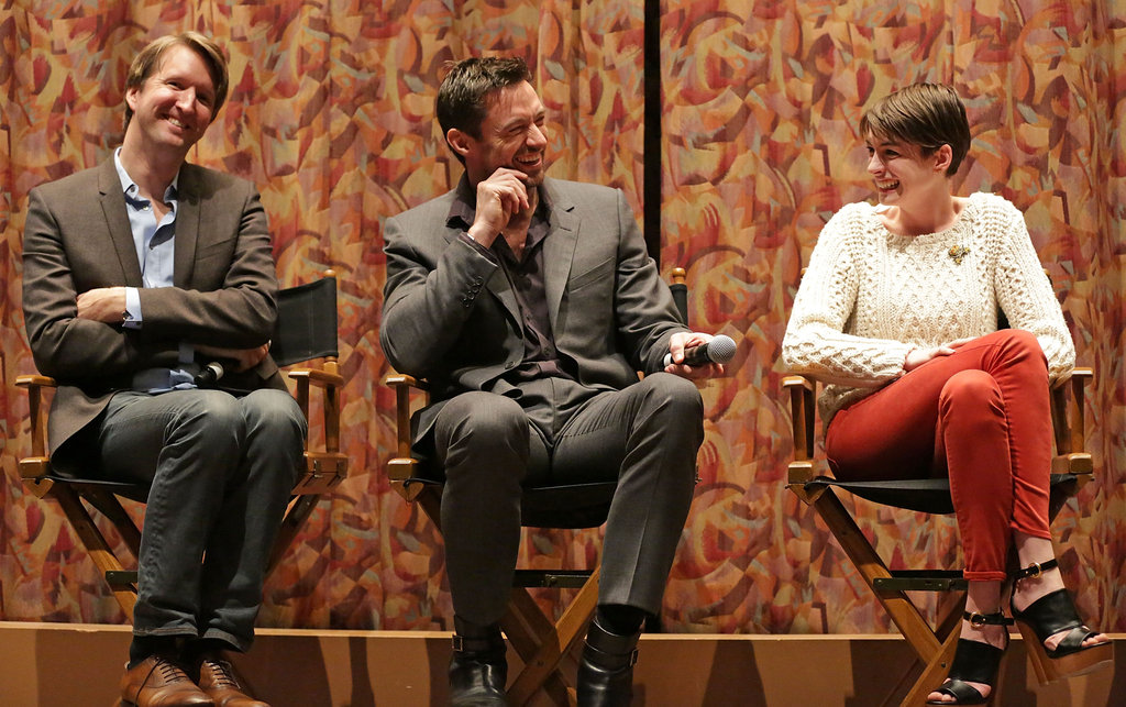 Anne Hathaway, Hugh Jackman, and Tom Hooper attended a SAG screening for Les Misérables.