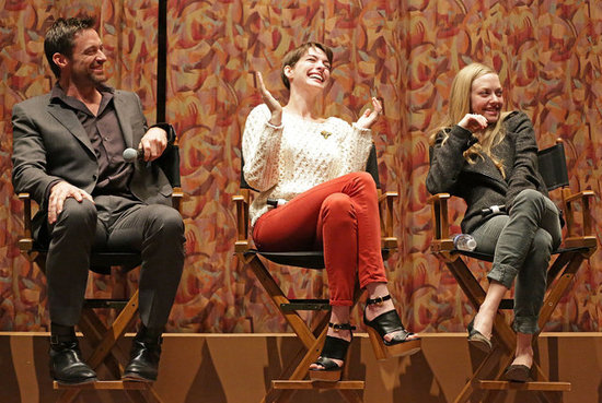 Anne Hathaway, Hugh Jackman, and Amanda Seyfried attended a SAG special screening and Q&A.