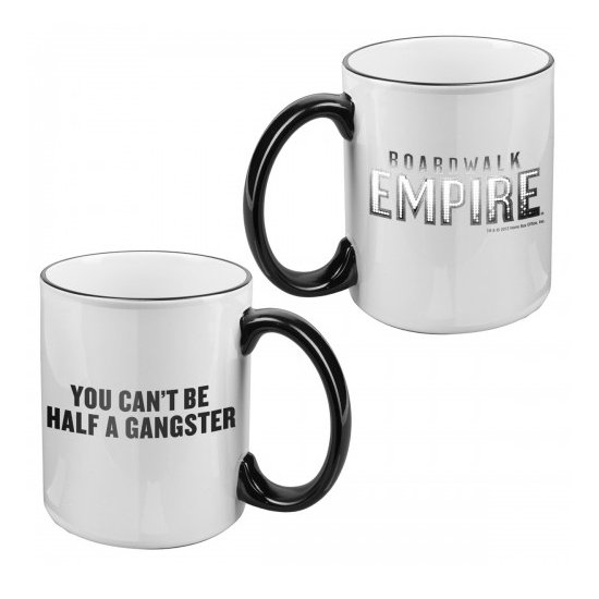 Boardwalk Empire You Can't Be Half a Gangster Mug ($15)