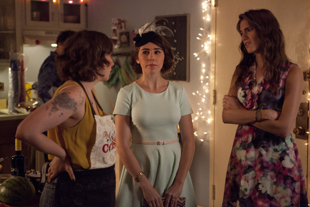 Lena Dunham, Zosia Mamet, and Allison Williams in Girls.