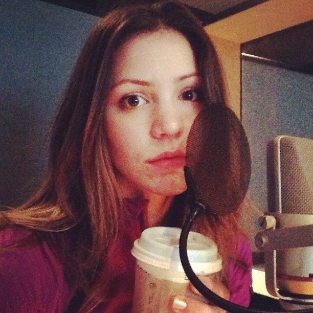 Smash star Katharine McPhee took a Starbucks break before hitting the recording studio. Source: Instagram user Katharine McPhee