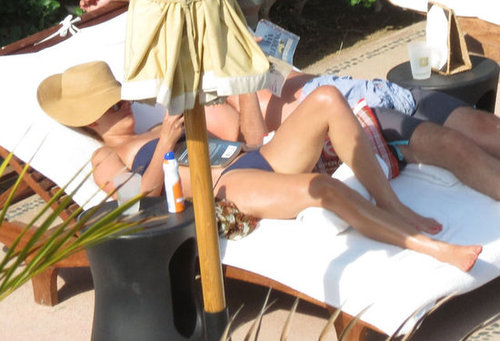 Lauren Conrad relaxed in her bikini and read a book during a July 2012 trip to Mexico.