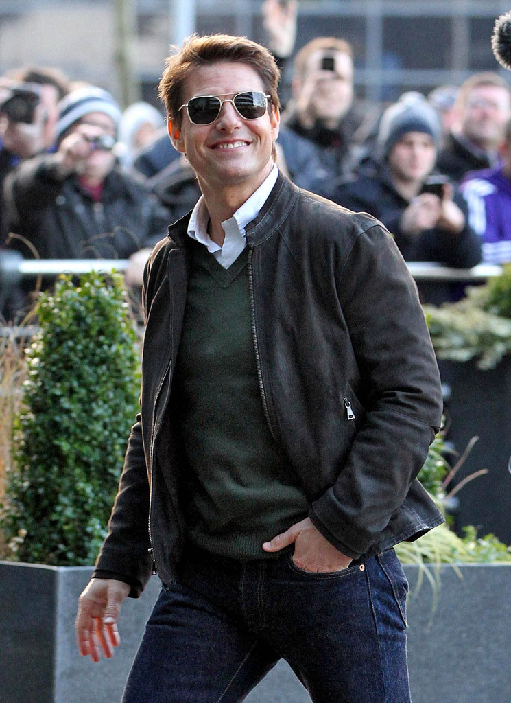 Tom Cruise left the Manchester Derby in Manchester, England.
