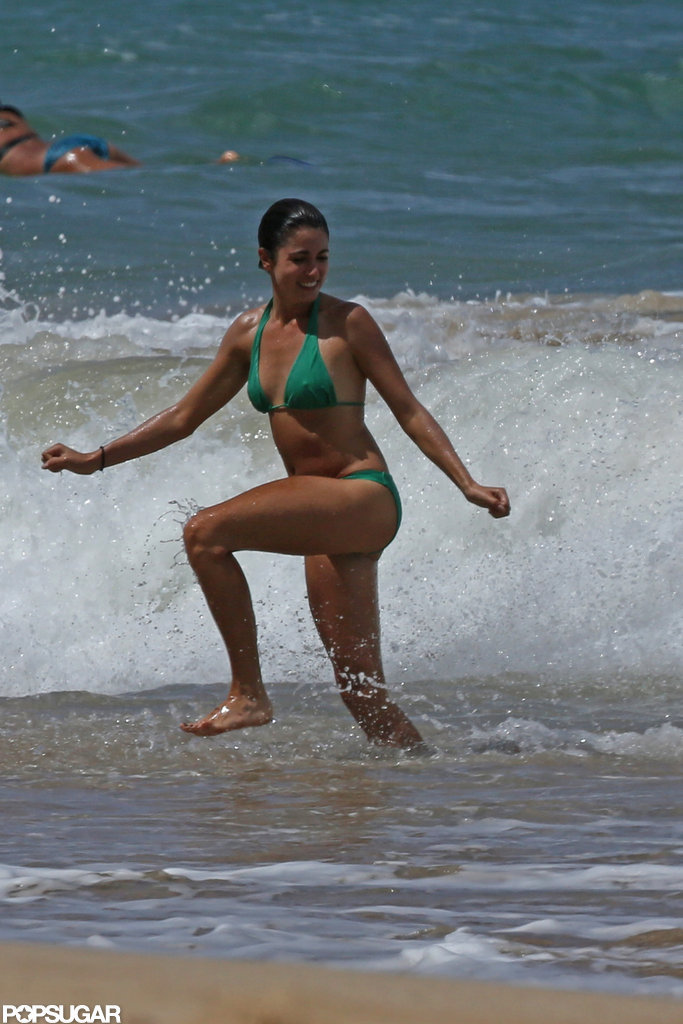 Nikki Reed played in the waves during a day at the beach in Hawaii this September.