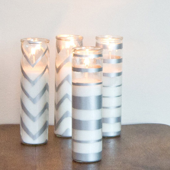 Spray-Painted Dollar-Store Candles