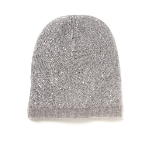 This Gilt Cashmere Sequin Hat ($55) has just the right amount of sparkle and shine.