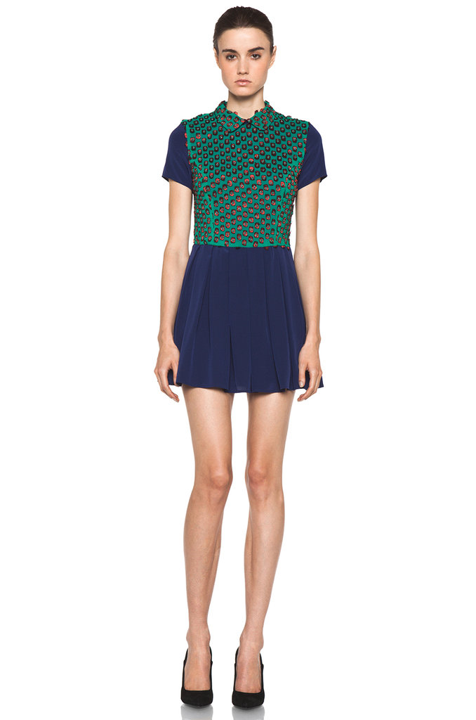 For the cool girl (who loves a bold embellishment), this Opening Ceremony beaded Georgette dress ($549) is just for you.