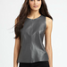 Patterson J. Kincaid's gray leather tank ($248) is a neutral so it will go with all the bright hues in your closet, especially your colored jeans.