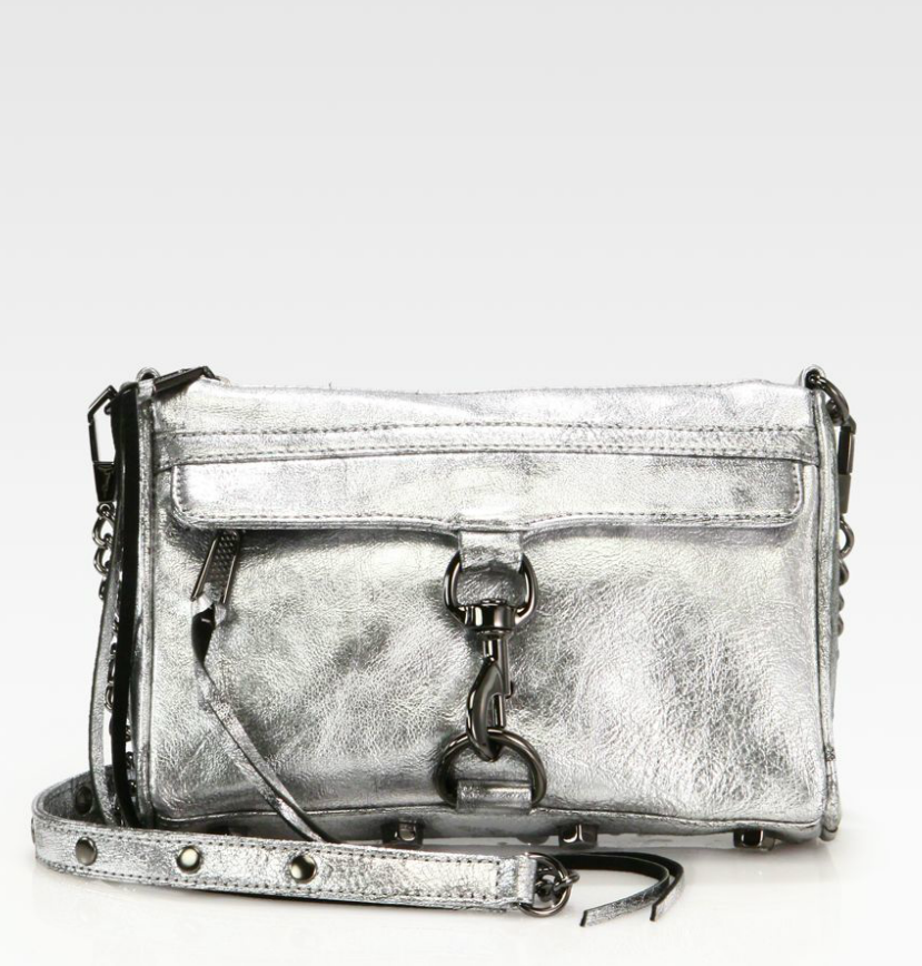 Rebecca Minkoff's Mini Mac Metallic Clutch ($250) is ideal for hands-free shopping — and dancing the night away.