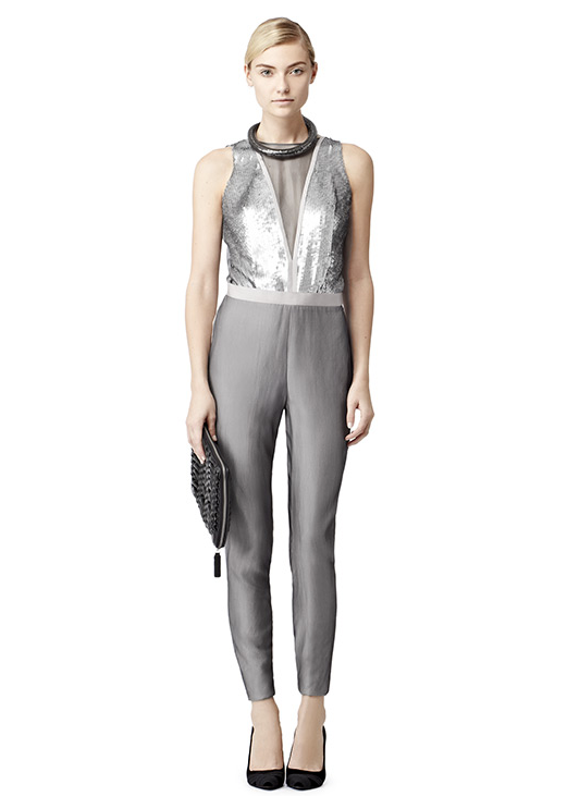 Instead of the typical little black dress, try out this stunning Reiss Juana Embellished Jumpsuit ($500).