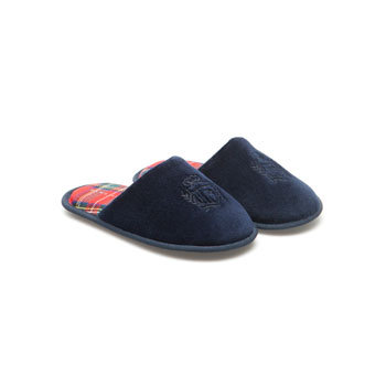 Boys Crested Slipper