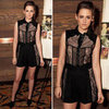 Shop Kristen Stewart&#039;s Sexy Lace Short Combo via Shopstyle!