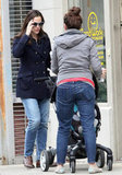 Jennifer Garner took Samuel on a walk in New Orleans.