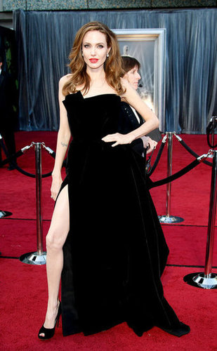 Angelina Jolie isn't just one of the biggest stars in Hollywood; she also managed to create one of the most persistent memes of the year when she showed a bit of leg at the Oscars in a blac