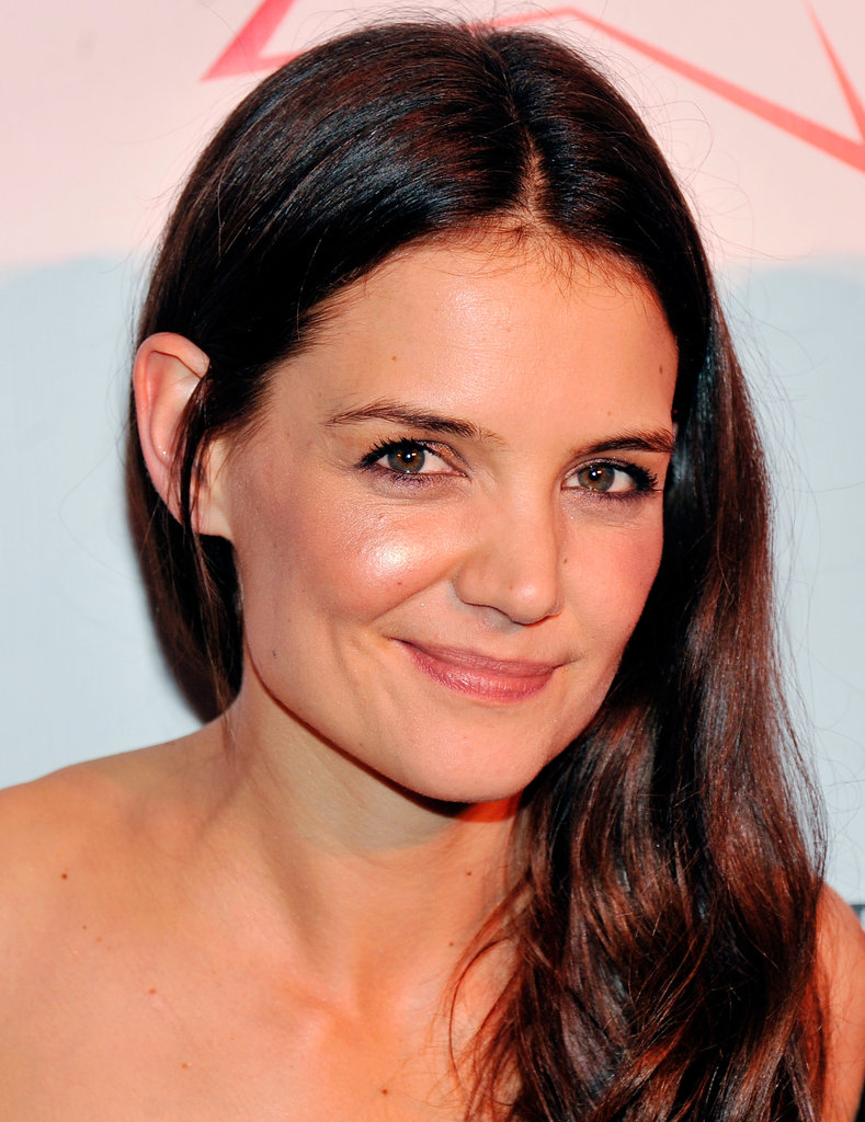 Katie Holmes smiled for photos on the red carpet in NYC.