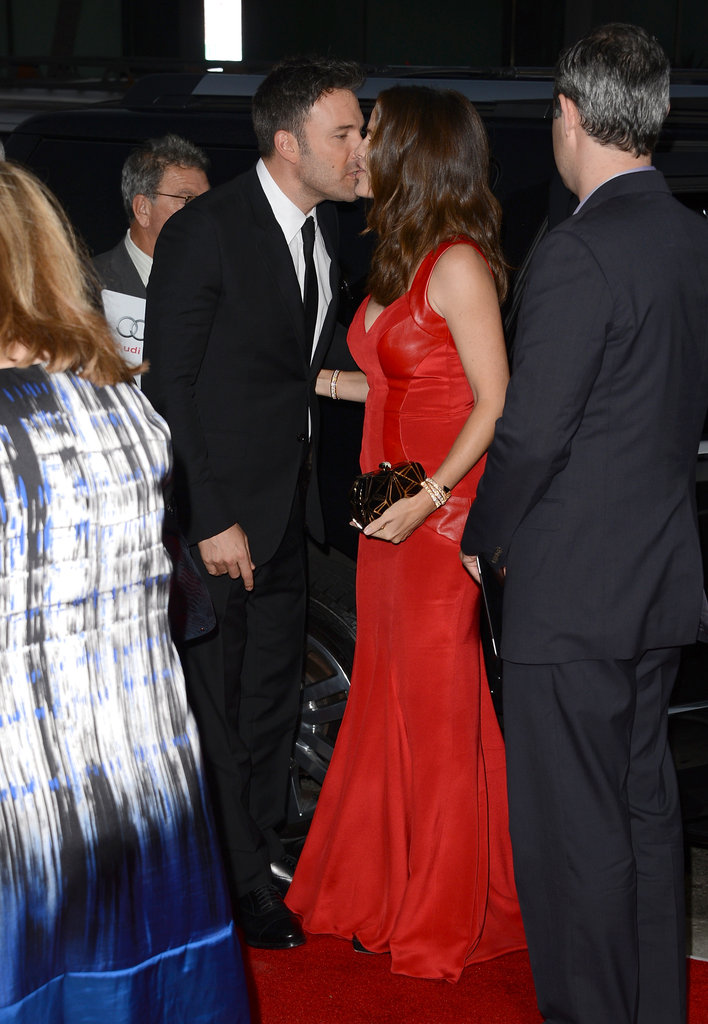 Ben Affleck snuck a kiss from Jennifer Garner at his LA premiere of Argo in October.