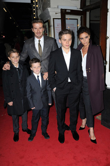 The Beckhams dressed up for their night on the town.