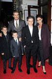David and Victoria were joined by sons Cruz, Brooklyn and Romeo at the theatre.