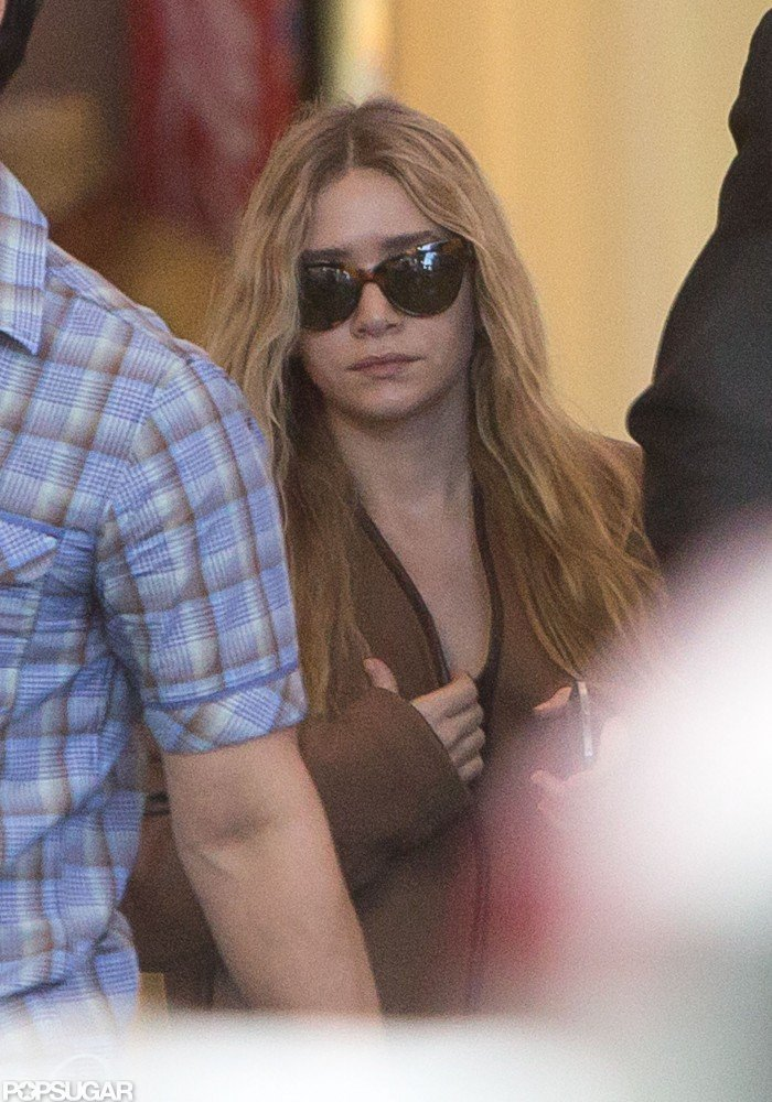 Ashley Olsen arrived at LAX yesterday.