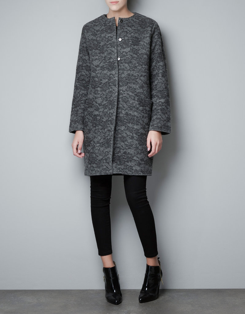 What outerwear is more fit for your ladylike friend than one with a little lace on it, like this Zara Lace-Print Wool-Blend Coat ($129)?