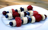 Patriotic Fruit Kebabs