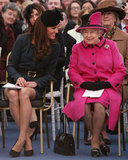 The queen and Kate appeared to get along.