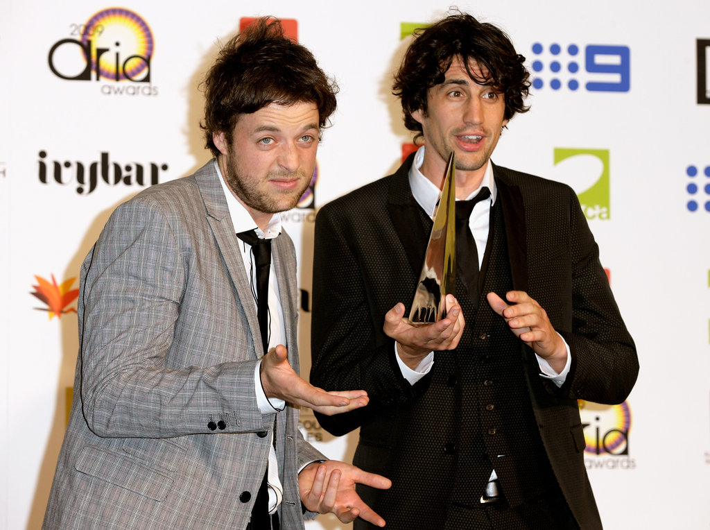 Backstage fun at the ARIA Awards in Sydney in Nov. 2009.