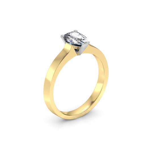 18 carat yellow gold and diamond ring, $4,510, 1791 Engagement Rings