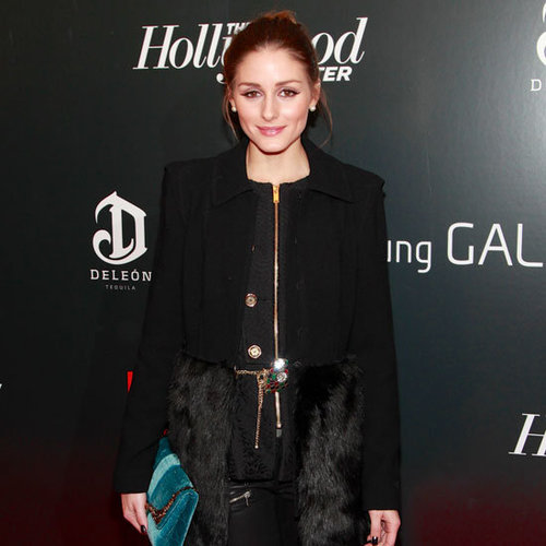 Olivia Palermo Wearing Black Fur Coat