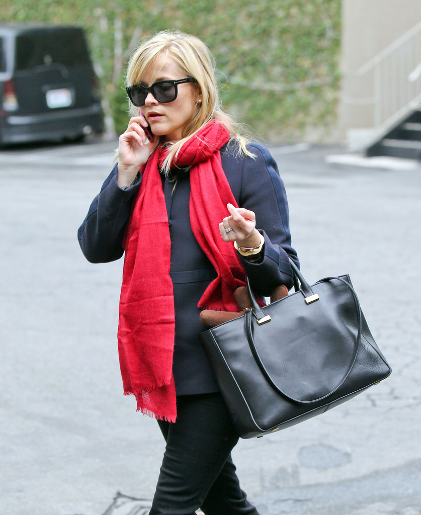 Reese Witherspoon took a phone call while walking to her car.
