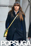 Jessica Biel wore a cape and a hat for a walk around NYC.