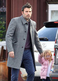 Ben Affleck stopped by a local coffee shop with daughter Seraphina in tow.