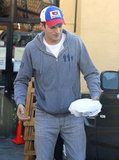 Ashton Kutcher Kutcher wore a baseball cap out in LA.