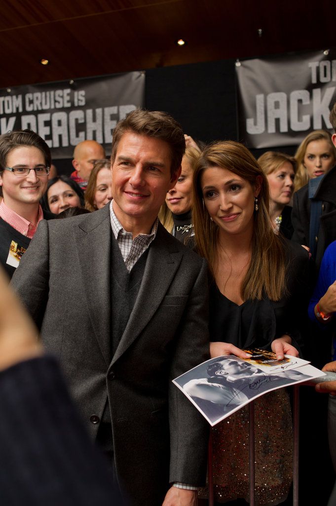 Tom Cruise met with fans.