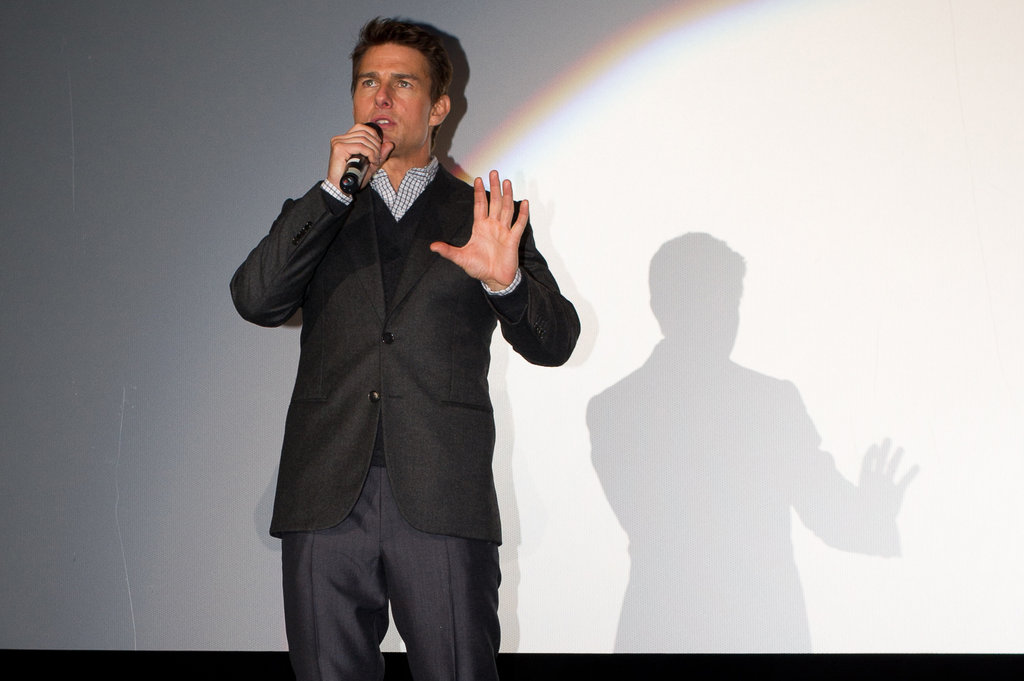 Tom Cruise presented the movie.