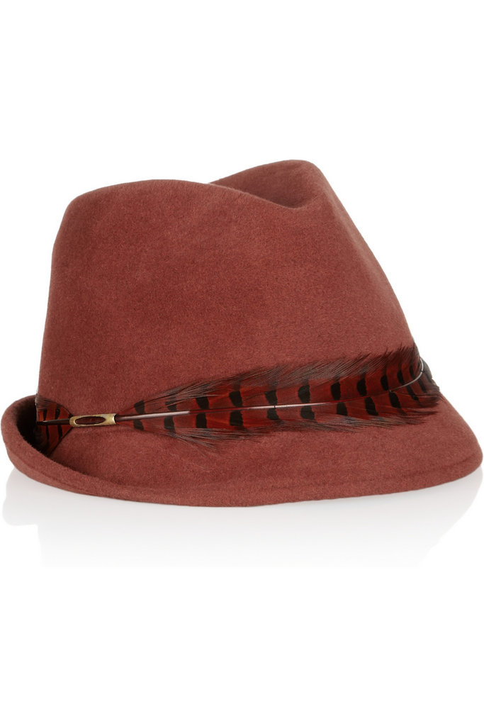 Eugenia Kim makes some of the best hat around; this Craig feather-trimmed rabbit-felt fedora ($93, originally $310) would be the perfect gift for your downtown girl.